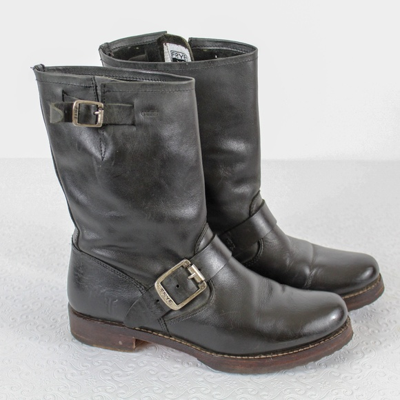 Frye Shoes - Frye Jenna Engineer Short Leather Boots size 7 dc07a8a22
